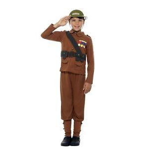 Bambini-Ragazzi-Ufficiale-orribili-STORIE-Guerra-Soldato-Costume-Libro-Settimana-Costume
