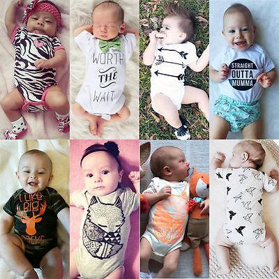 Recién Nacido Bebé Niño Niña Traje Una Pieza Body Ropa