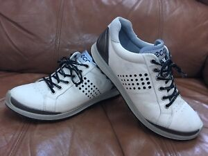 1a328c85cd6d ECCO Mens Golf Biom Hybrid 2 Shoes White   Black EU Size 41 US Size ...