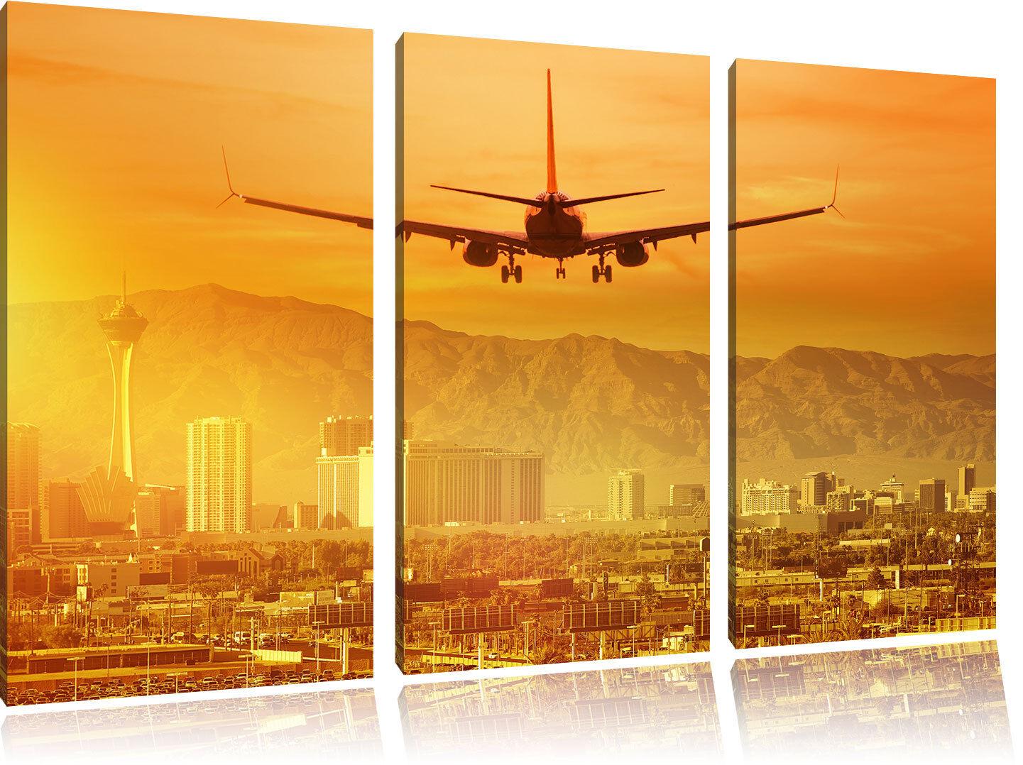Urlaubsreise Cresce Las Vegas 3-Teiler Quadro su Tel Decorazione Parete