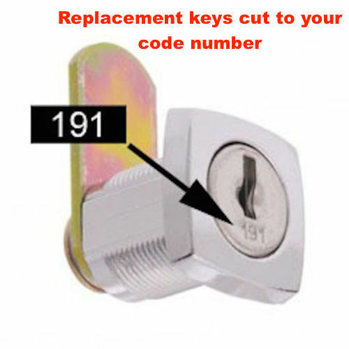 Replacement Keys Cut To Code Number-FREE POST! Lost Your Filing Cabinet Keys