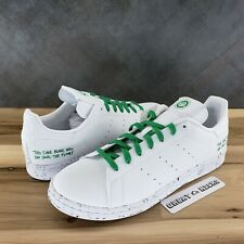 Size 9 - adidas Stan Smith Clean Classics Collection - White Green 2020