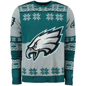 Details About 2015 Philadelphia Eagles Ugly Christmas Sweater Big Logo Crew Neck New Nfl