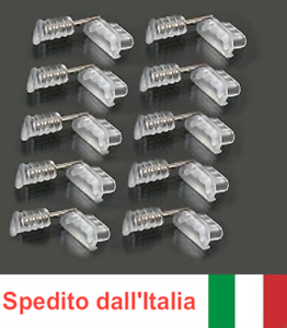 SVENDITA 10x SET TAPPO ANTIPOLVERE MICRO-USB + JACK per LENOVO MOTO G5