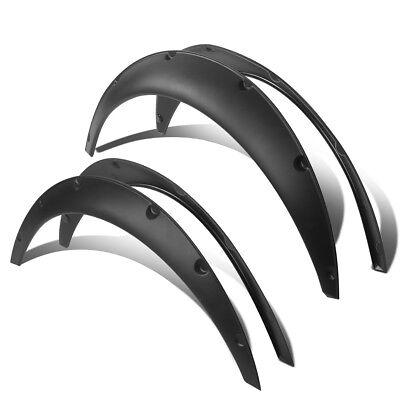 "4Pcs Black 1.8/""F//2.5/""R Pocket Style Fender Flares For Most Rear Wheel Driver Car"