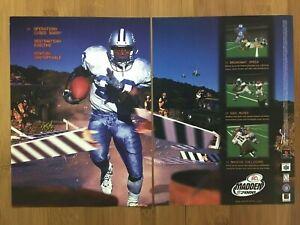 Madden-2000-PS1-Playstation-1-N64-Vintage-Poster-Ad-Art-Print-Official-Football
