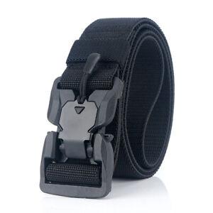 125cm-AWMN-ES19-Punch-Free-Magnetic-Elastic-Buckle-Tactical-Belt-Quick