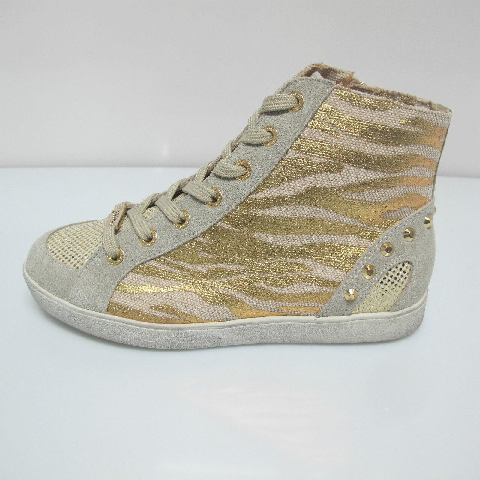 LIU JO zapatos de mujer ZAPATILLAS alto mod.EVA S15145 T8024 col. BEIGE oro