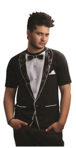 Men's Funny Tuxedo Printed T-Shirt Fancy Dress Party Costume Top