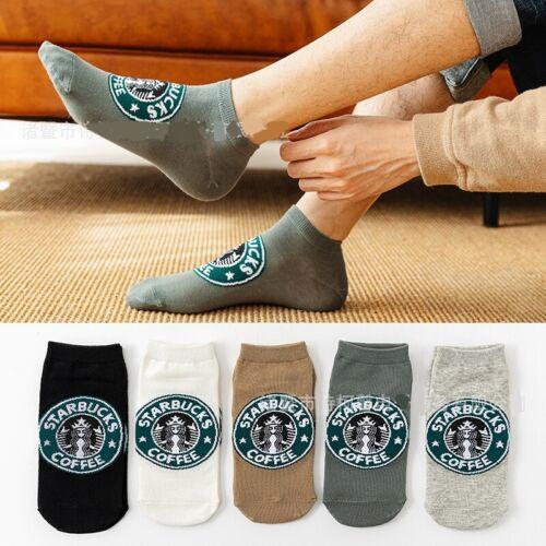 Starbucks Logo Socks Women//men Black Gray White Yellow Random 1 Pair