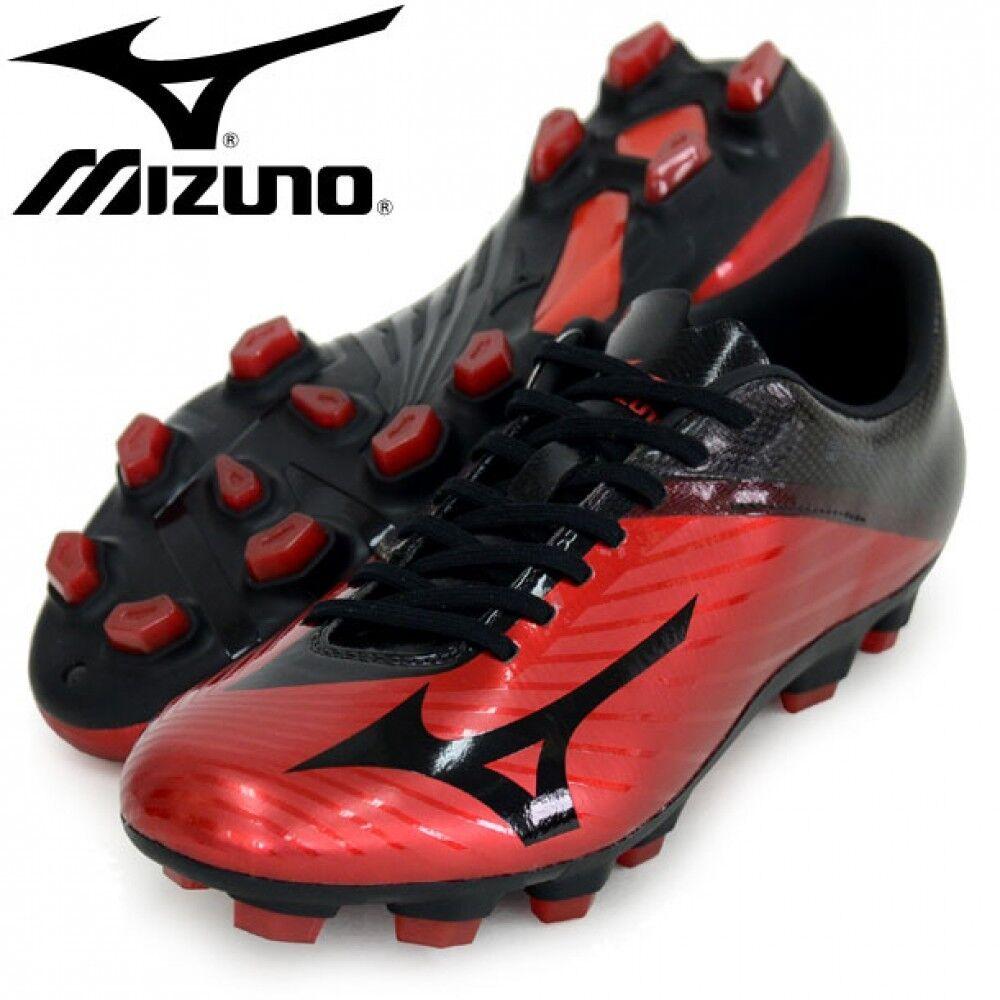 Zapatos de fútbol de Mizuno Spike Basara 102 MD P1GA1763 Negro X roja