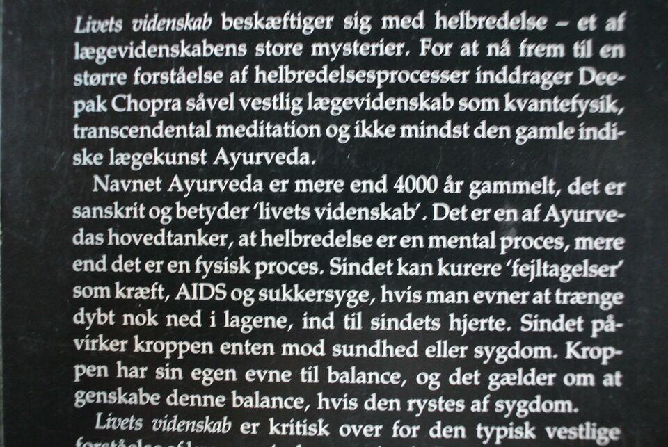 livets videnskab - ved lægevidenskabens grænser, deepak