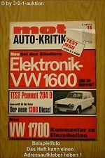 MOT 11/68 VW 1600 1700 Peugeot 204 D Austin Morris