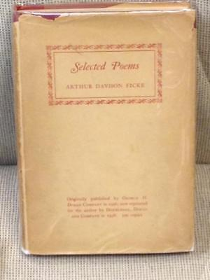 Arthur Davison Ficke Selected Poems Signed 1938 Ebay