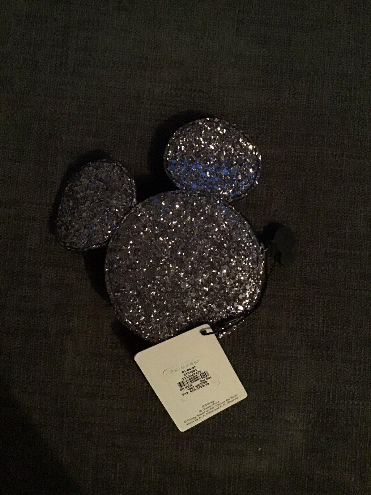 Mickey Mouse Silver Sequin Coin Bag - Primark
