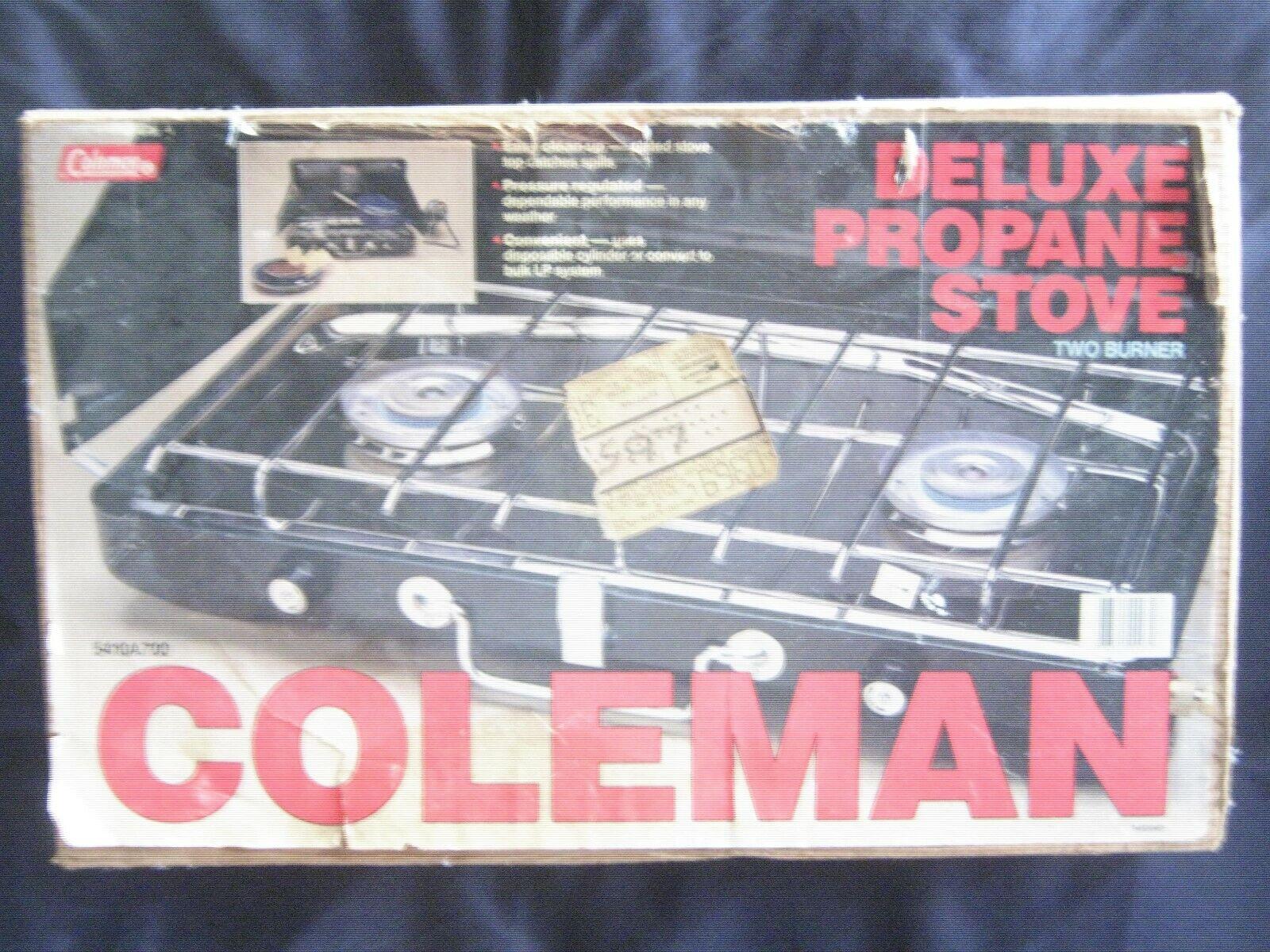 Coleman Deluxe Propane Campstove 2 Burner 5410A700 ORIGINAL UNOPENED BOX  - Kmart  cheaper prices