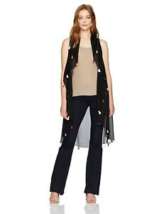 New-Collection-XIIX-Convertible-Black-Summer-Tassel-Circle-Wrap-Vest-32-Tags
