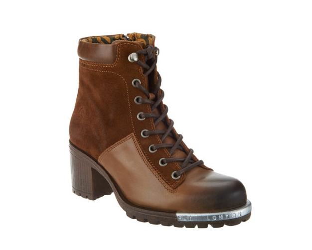 Garanzia del prezzo al 100% FLY London Leather Lace-up Ankle stivali - Leal Leal Leal Camel Donna  EU36 US 5-5.5  servizio di prima classe