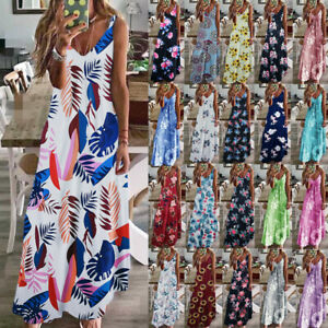 Womens-Floral-Ladies-Sundress-Strappy-Maxi-Loose-CAMI-Beach-Long-Slip-Dress-6-22