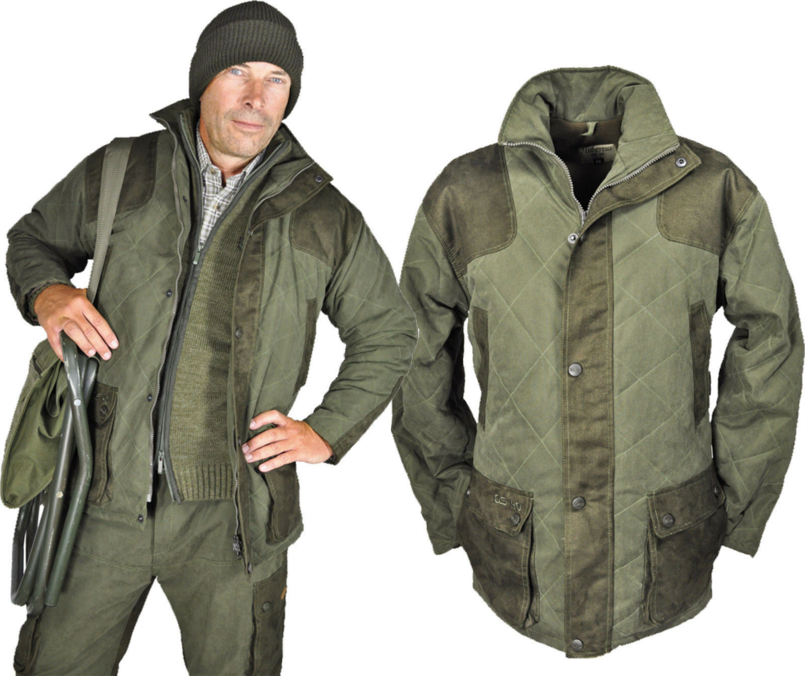 Chaqueta chaqueta caza & ocio con os-40 viento-impermeable de Hubertus 62