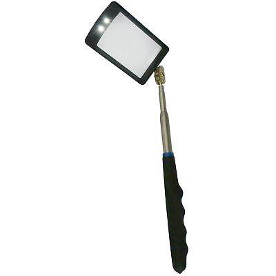 2 DEL Lumière Brillante Torche Télescopique D/'inspection Miroir 50 x 80 mm TE759