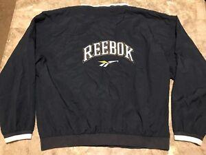 ef8415f68bf67f VTG 90s REEBOK Big Logo Spell-Out Rare Pullover Windbreaker Jacket ...