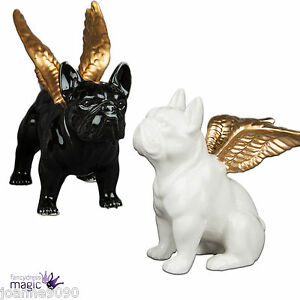 Sass bell guardian angel dog ornament bulldog wings for Quirky ornaments uk