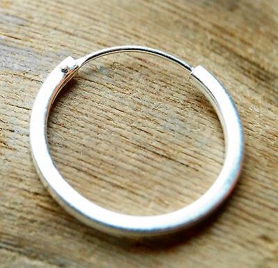 EINZEL 925 Sterling Silber Creole Ohrring Ohrschmuck Ohrhänger 60mm 5171