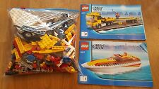 LEGO City 4643 Power Boat Transporter Truck Complete with instructions