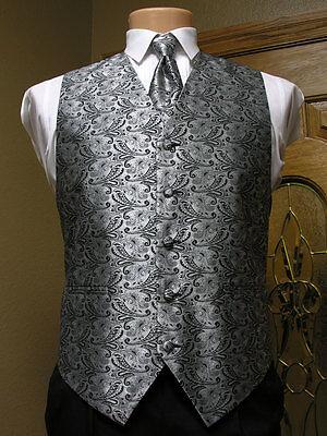 Ivory Paisley Steampunk Retro Tuxedo Wedding Prom Self Tie Bow Tie Champagne