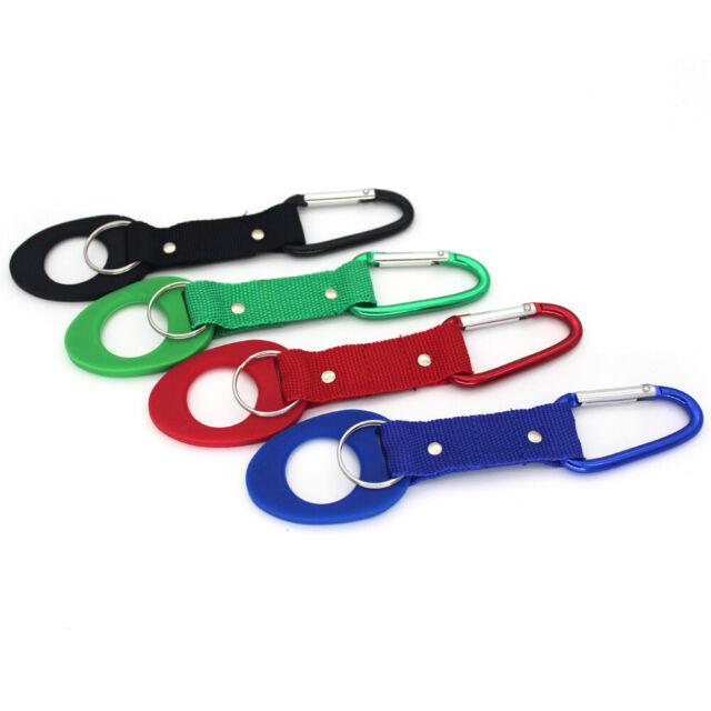 Durable Hiking Water Bottle Holder Hook Belt Clip Aluminum Carabiner Key Ring x1