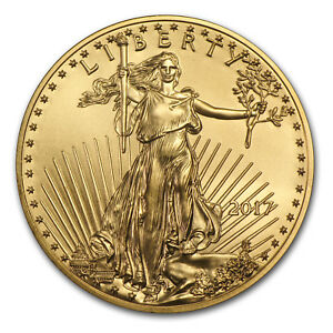 '2017 1/4 oz Gold American Eagle BU' from the web at 'https://i.ebayimg.com/images/g/aSEAAOSwxg9Zb~Kg/s-l300.jpg'