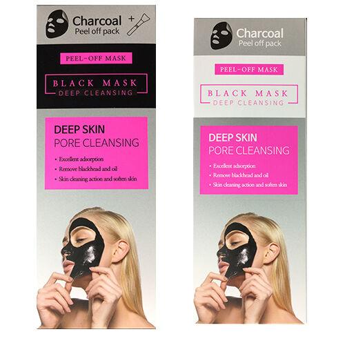 EST Deep Skin Pore Cleansing Charcoal Peel-Off Black Mask