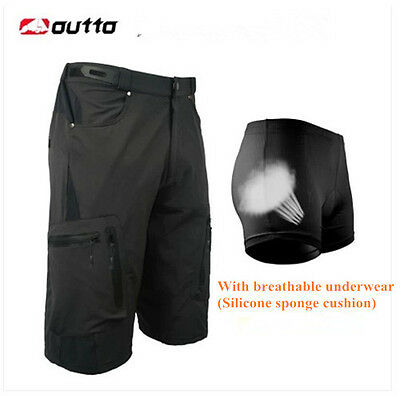 2 Color Men Cycling Mountain Bike/Bicycle Shorts Half Pants (3D Padded Underwer)