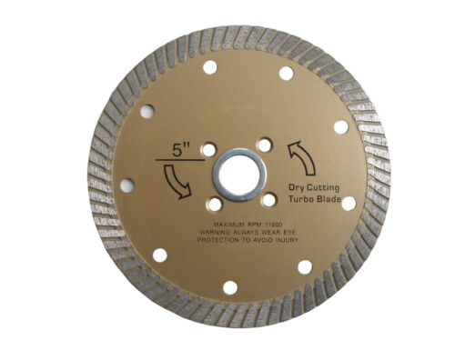 "5/"" Diamond Dry Cutting Turbo Blade for granite"