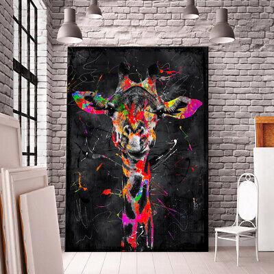 Wandbild 100x100cm Elefant Handgemalt Leinwand GERAHMT Acryl Gemälde