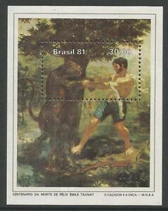 Bresil-1981-Felix-Emile-Baron-de-Taunay-M-Feuille-SG-MS1890