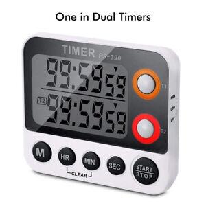 LCD-Digital-Kuechenwecker-Kurzzeitmesser-Kuechen-Timer-mit-Hanger-Magnet-Eieruhr