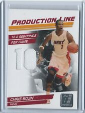 2010-11 Donruss Production Line Chris Bosh Jersey Card 257/399 #29