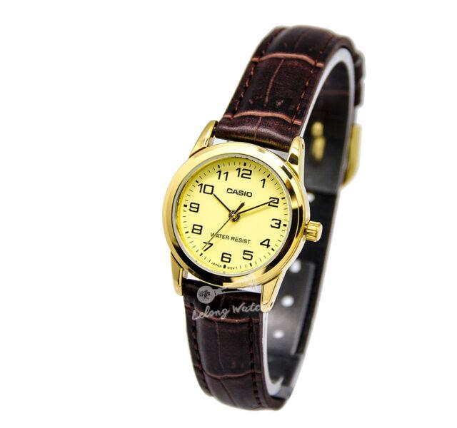 -Casio LTPV001GL-9B Ladies' Analog Watch Brand New & 100% Authentic