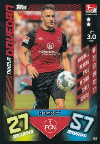 FC Nuremberg 1 tous les 3 cartes Match Attax BL 19//20