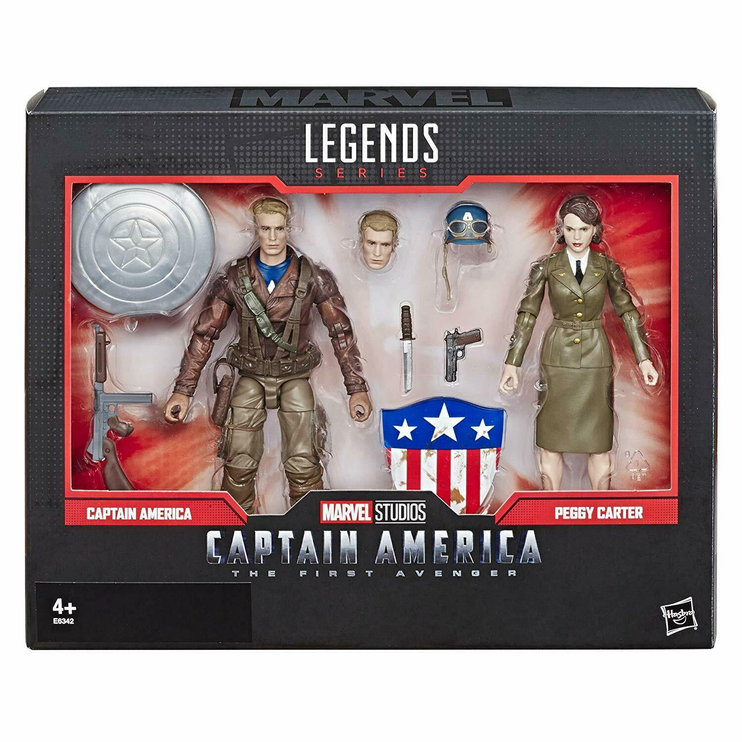Marvel Legends 80 ANNICAPITAN AMERICA & Peggy autoTER  IN STOCK
