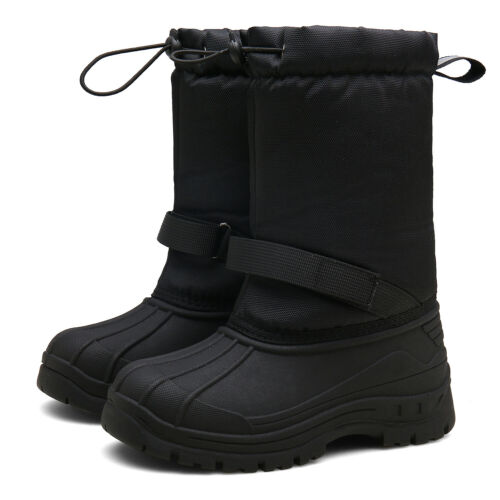 Boys Girls Winter Waterproof Snow Boots Kids Non-Slip Warm Outdoor Walking Shoes