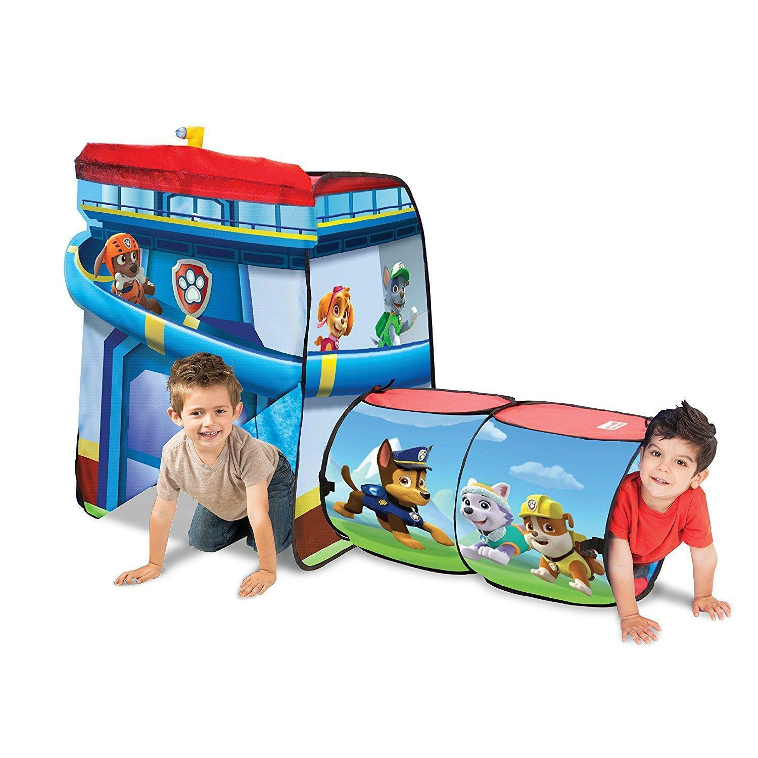 Playhut Paw Patrol Tent 2 Structures Kids Toys Toddlers Tunnel Fold Down New
