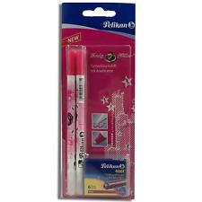 2er-Set Pelikan Lady Killer Tintenlöschstift Tintenkiller inkl 6 Patronen pink