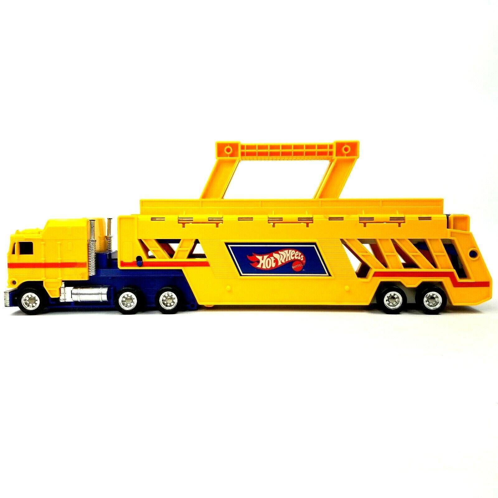artículos de promoción Vintage 1986 Hot Wheels Wheels Wheels Semi Camión Remolque Coche hauler llevar caso amarillo Mattel  Envíos y devoluciones gratis.