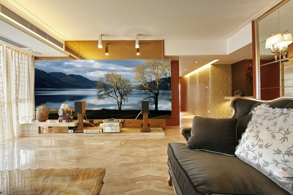 3D 3D 3D Broad Lake Scenery 6 Wall Paper Wall Print Decal Wall Deco Wall Indoor Murals c5dc08