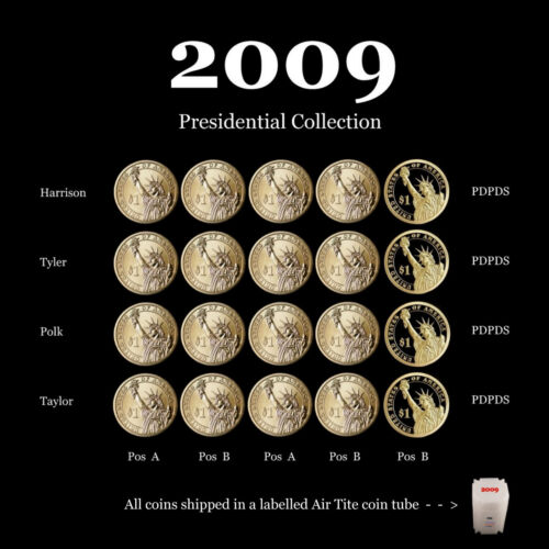 2009 P+D+S Presidential Dollar Mint Proof Set ~ Proof and Satin PD from Mint Set