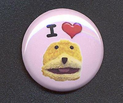I LOVE FLAT ERIC Badge Button Pin - COOL !  25mm and 56mm size!