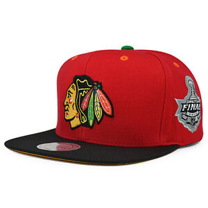 Image is loading Chicago-Blackhawks-5x-Champions-Snapback-Mitchell-amp-Ness- 89b4990baea